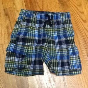 Boy's 5 Plaid Drawstring Shorts, EUC